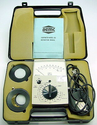 Chauvin Arnoux Aemc 814 Light Meter Sensor Kit