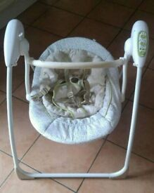 Mothercare baby swing electric rocker bouncer