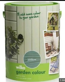 BRAND NEW Wilko willow 5l fence paint