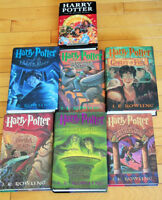 COMPLETE HARRY POTTER SET ---4 AMERICAN FIRST EDITIONS EX. COND