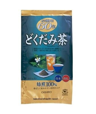 JAPAN ORIHIRO DOKUDAMI HOUTTUYNIA CORDATA DRY ROASTING TEA(3g X 60pcs)HEALTH