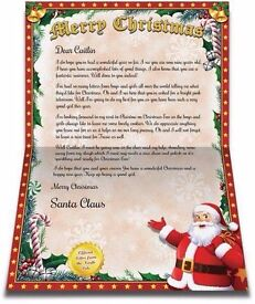 Personalised Santa letters for Kids Charity!!