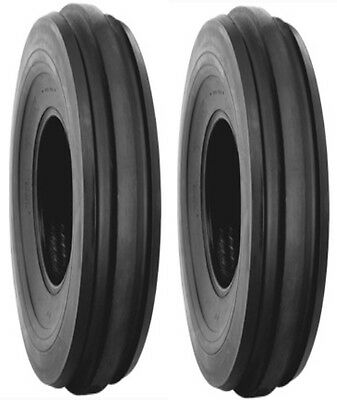 Two 6.00-16 Lrc Harvest King F2 Front Tractor Tires Tubes Deere Farmall Etc