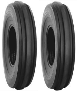 TWO TIRES   5.00-15 F2 Three Rib tractor FRONT tires  With TUBES