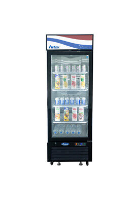 Atosa Mcf8722gr 19 Cu Ft Single Section Refrigerated Merchandiser Free Lift Gate
