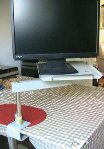 Very strong solid rotating metal table, for screen. Phone or any West Island Greater Montréal image 2