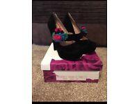 Brand New Black Velvet High Heels