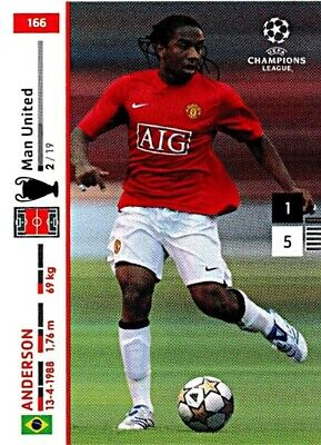 PANINI CHAMPIONS LEAGUE 2007 08 ANDERSON NR 166 MANCHESTER UNITED