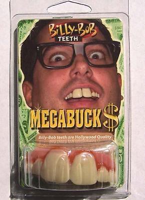 LG MEGA BUCK TEETH  fake goofy joke bad false hill  billy bob costume NEW GAG