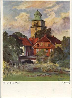 "Alte Kunstpostkarte - Rudolf Stelling - ""Alt-Neumünster 1960"""