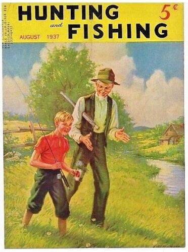VINTAGE Hunting & Fishing Magazine  19 Covers Only