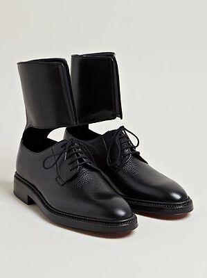 Yang Li Black Leather Lucia Ankle Cuff Derby Ann Shoes Sz 41 Demeulemeester