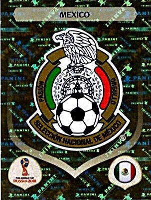 PANINI FIFA WORLD CUP 2018 RUSSIA GLITZER STICKER 452 WAPPEN MEXICO