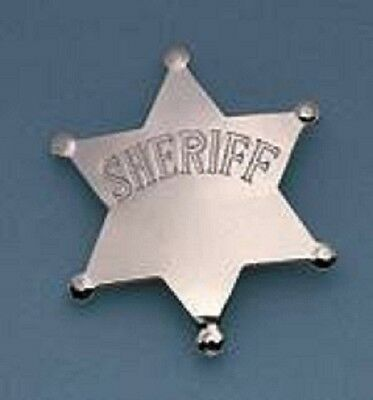 Novelty Sheriff Star Badge - Silver - Nice for a Halloween - Nice Costumes For Halloween For Kids