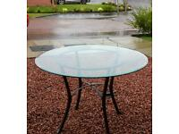 Glass dining table from Marks and Spencer