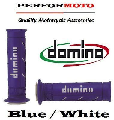 DOMINO XM2 GRIPS BLUE  WHITE TO FIT TRIUMPH 1200 SPEEDMASTER