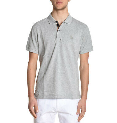 Oxford Short Sleeve Polo Shirt (Burberry pale grey melange polo shirt short sleeve men oxford check s,m,l,xl,2xl )