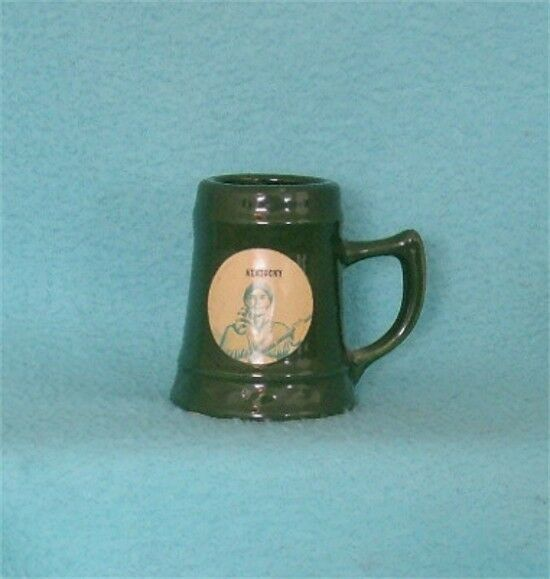 Vintage Miniature Souvenir Pottery Stein featuring Daniel Boone Kentucky