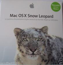 DVD OS X 10.6.3 Snow Leopard Installation COMPLETE Boite NEUVE STOCK FRANCE