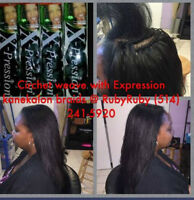 Crochet with Marley hair straight and wavy hair/ Extensions