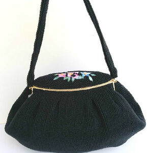 Lovely Evening Purse Black Beaded with embroided Roses West Island Greater Montréal image 2