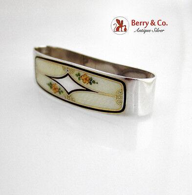 Enamel And Sterling Silver Napkin Ring International 1930