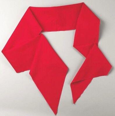 Schärpe 200 cm rot Binde-Gürtel Fasching Karneval Pirat Tuch Schal Band Offizier ()