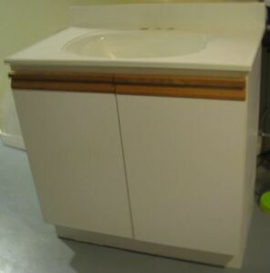 bathroom vanity cabinet and sink
