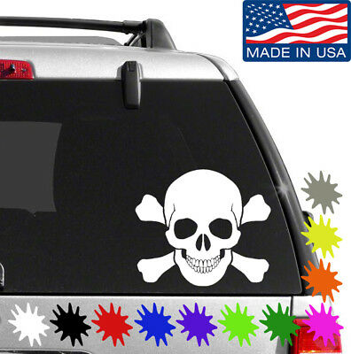 Skull And Crossbones Decal Sticker BUY 2 GET 1 FREE Choose Size & Color - Skull And Crossbones Stickers