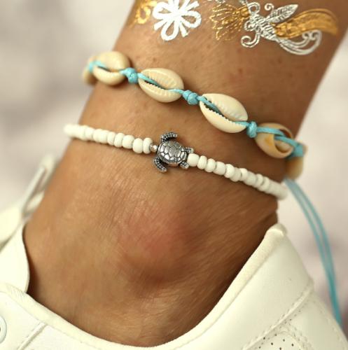 BOHO Women Crystal Anklet Ankle Bracelet Barefoot Sandal Beach Foot Jewelry