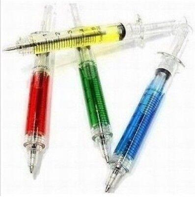 4x Novelty Liquid Syringe Ballpoint Pen Doctor Nurse F02](Syringe Pen)