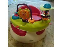 Mamas and Papas baby snug with play tray (like bumbo)