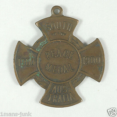 South African Boer WAR Transvaal South Australian PEACE Medal 1900