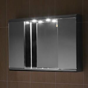 stainless steel bathroom cabinet mirror with down lights g2illn ebay