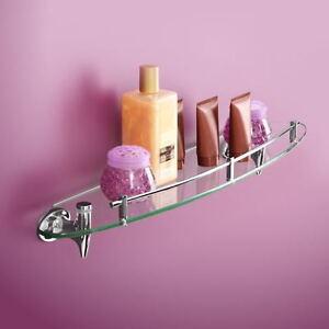 fabulous shelf on bathroom counter | Glass Bathroom Shelf Fabulous Fang Chrome Bathroom ...