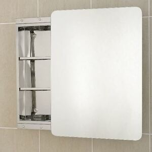 stainless steel bathroom cabinet single sliding mirror door j1 ebay