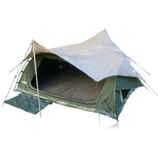 Kulkyne Kampers Queen Oxford Fabric Dome Swag Fly