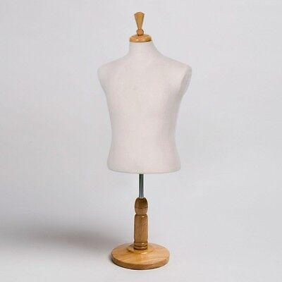 New Countertop Dress Jersey Form Mens Male Cream Mannequin W Wood Natural Base