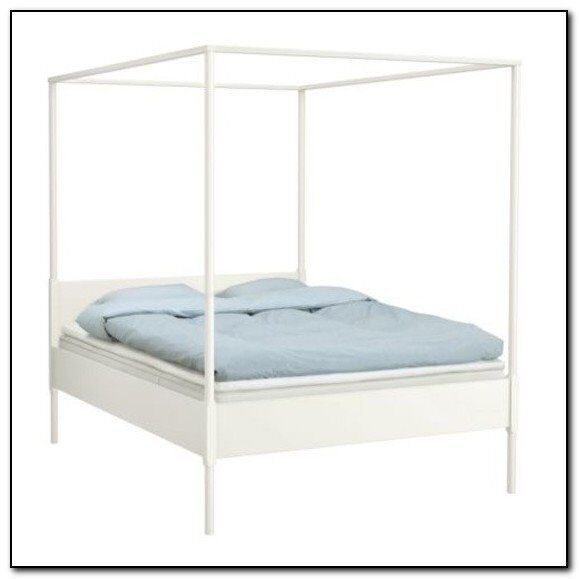 White Four Poster Bed Ikea | in Liverpool, Merseyside