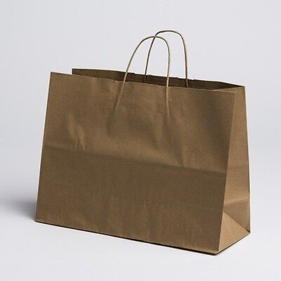 16 X12 Large Paper Kraft Retail Merchandise Shopping Bags W Handles 100 Pcs