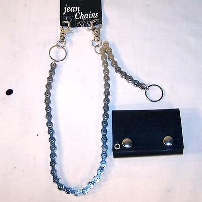 HEAVY METAL MOTORCYCLE BIKE WALLET CHAIN link holder for