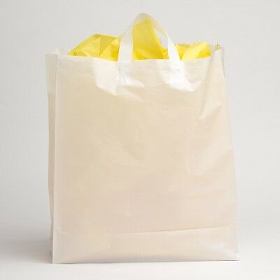 16x18 Jumbo White Plastic Retail Merchandise Shopping Gift Frosty Bags
