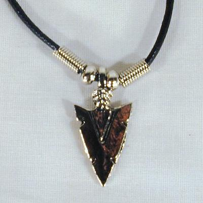 SILVER ARROWHEAD ROPE NECKLACE mens womens 18 inch jewelry necklaces NEW JL194