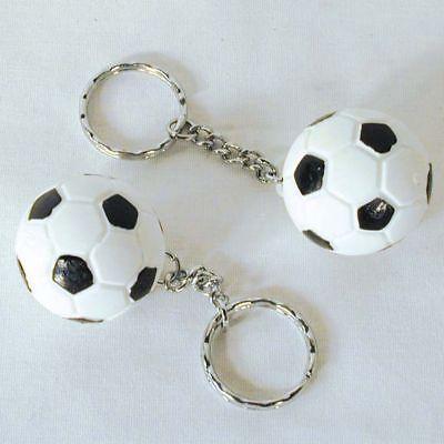 2 SOCCER BALL KEY CHAIN sport fan collect team ball NOVELTY play keychains new - Soccer Ball Keychains