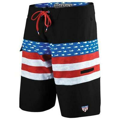 14d11309a7 Pelagic Ridgemont Americamo Red White Blue Fishing Shorts Boardshorts Sz 38  NEW