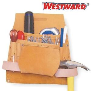 """NEW WESTWARD LEATHER TOOL POUCH 6ne33 189479265 FITS BELTS UP TO 2.75"""""""
