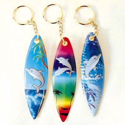 2 SURF BOARD KEY CHAIN keys dolphin beach swim surfer novelty boarding surfing  (Surf Keychain)