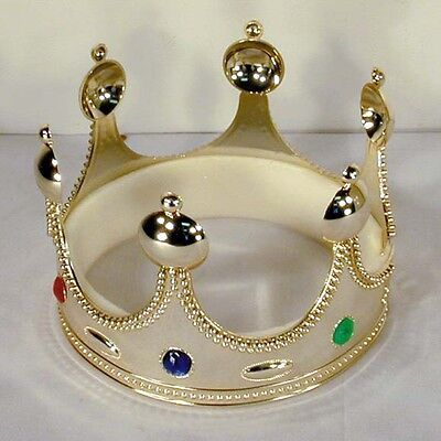 new KING CROWNS W JEWELS royal party supplies toys CROWN costume hat novelty  - Costume King Crowns