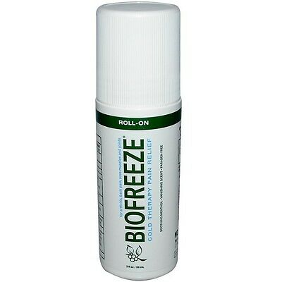 Biofreeze Pain Relieving Gel - Cold Therapy - 3oz Roll-On - Pack of 1