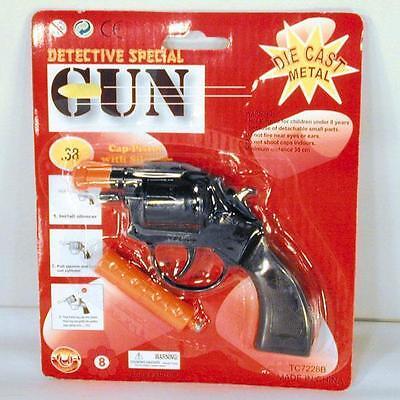 DIE CAST 38 SPECIAL POLICE CAP GUN toy guns pistol METAL play police shooter new